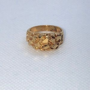 💛 18k Yellow Gold Vermeil Nugget Ring